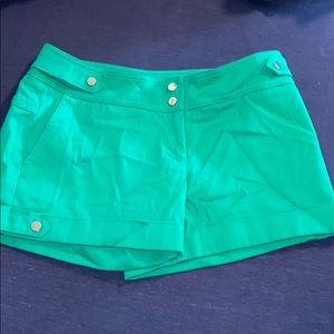 Emerald green caché shorts NWOT